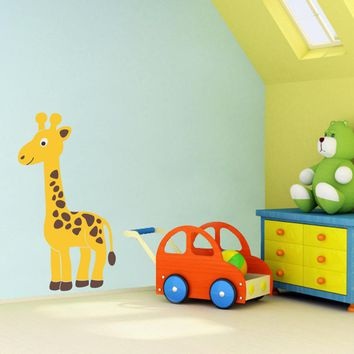 Giraffe Wall Decal - Safari Animal Wall Decor - Children Wall Decal and Nursery Decor