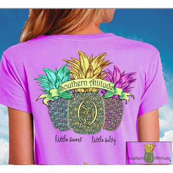 Southern Attitude Preppy Triple Pineapple T-Shirt
