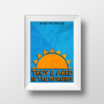 Community Poster, Troy and Abded in the morning, Movie Poster, TV Show, TV Series
