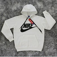 Nike: Male / female fashion sports sweater white hoodie I