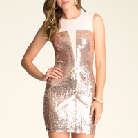 bebe Womens Mesh & Sequin Dress