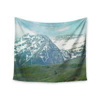 "Sylvia Coomes ""Pastel Mountains "" Blue Nature Wall Tapestry"