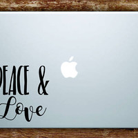 Peace and Love Laptop Apple Macbook Quote Wall Decal Sticker Art Vinyl Inspirational
