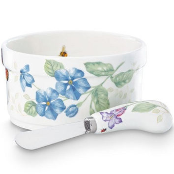 LENOX Butterfly Meadow® Dip Bowl & Spreader