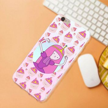 Maerknon Soft TPU Pattern Adventure Time For Samsung Galaxy A3 A5 A7 J1 J2 J3 J5 J7 2015 2016 2017