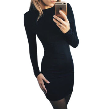 Women Upscale Quality Designer Brand Urban Hip Hop Style Long Sleeve Casuals, Business or Party Dress