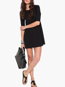 5dc6165fb32 Dresses Black Casual   Half Sleeve Dress from Shop Lyfie