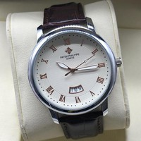 Patek Philippe Women Men Fashion Quartz Watches Wrist Watch