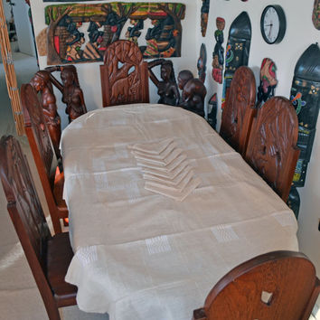 African Art, Kwanzaa, Kente, Table Cloth, Hand Woven, African Cloth, Fine Dining, African American Art, Afrocentric Decor, Table Ware,