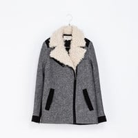 LONG JACKET WITH COMBINATION LAPEL - Jackets - TRF | ZARA United States