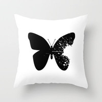 Butterfly Splatter 2 Throw Pillow by CosmosDesignz | Society6