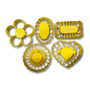 """Thumbprint Shaped Cookie Cutters (Set of 5 Cutters, 2.5"""" each)"""