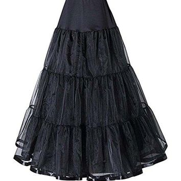 VCFormark Retro 50 Aline Half Slip FloorLength Underskirt Petticoat Tulle Skirt for Women