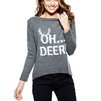 Oh Deer Sweater - Grey