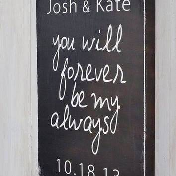 Wedding Gift, Custom Wedding Sign, Personalized Engagement Gift, Engagement Present, Bridal Shower Gift