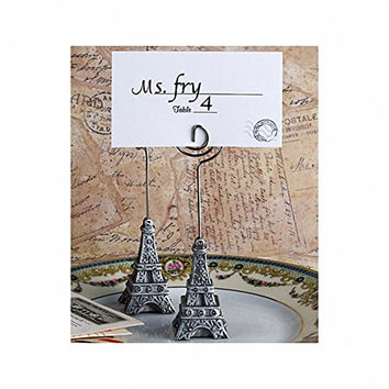 Eiffel Tower French Themed Place Card Holders or Table Number Holders (Set of 6)