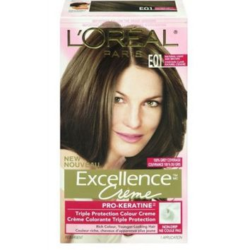 Buy L'Oreal Paris Excellence Creme Pro-Keratin Natural Light Ash Brown E01 Online in Canada | Free Shipping