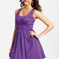 Sleeveless Pleated Dress - Amethyst