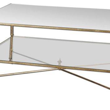 Henzler Mirrored Glass Coffee Table by Uttermost