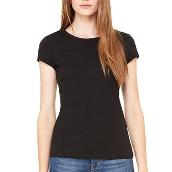 Bella Sheer Rib Black Babydoll Tee Shirt Top