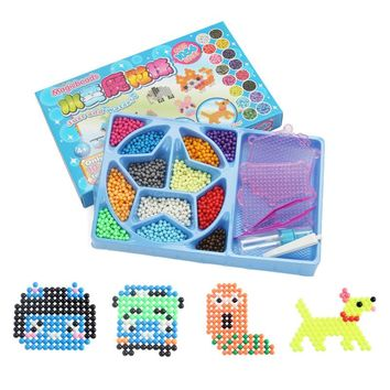 1000pcs Magic Water Beads Aquabeads Perlen 12 Colors Aqua Beads Puzzles Toys Set Hama Beads 3D Puzzle Educational Kids Toys