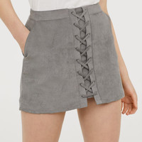 Short Skirt - Gray - Ladies | H&M US