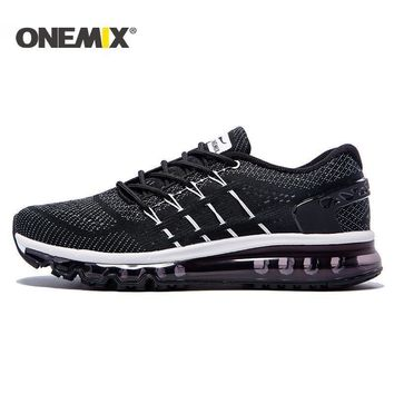 onemix 2017 cushion men running shoes breathable runner athletic sneakers men outdoor  number 1