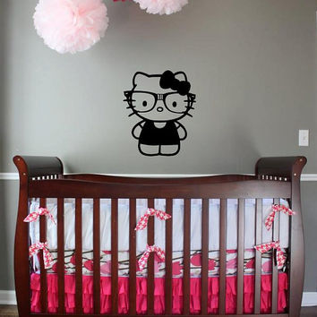Nerd Hello Kitty custom vinyl decal