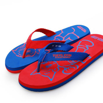 Summer Stylish Design Casual Cartoons Anime Print Beach Shoes Sandals [4918327556]