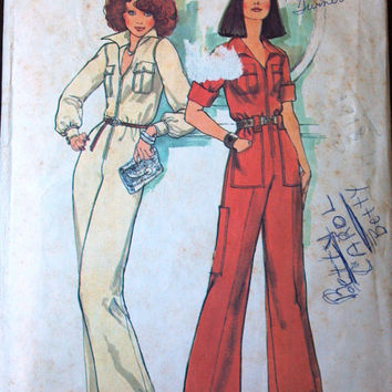 Simplicity 7310 Pattern for Misses' Jumpsuit in 2 Styles, Sizes 6 & 8, From 1975