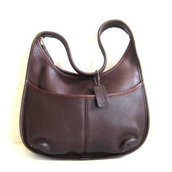 20% OFF SALE Vintage dark brown leather Coach purse. Authentic COACH bag. Hobo Shoulde