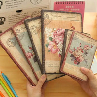 1pc Korea Cute Stationery European Retro Cloth Cover DIY Diary Book Cute Notebook Vintage Notebook