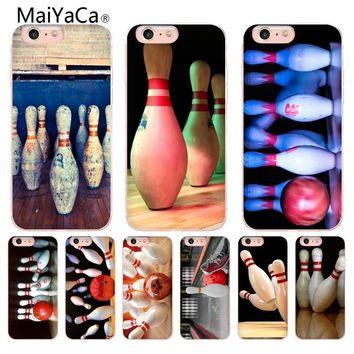 MaiYaCa Dilapidated Bowling Stadium Colorful Cute Phone Accessories Case for Apple iPhone 10 8 7 6 6S Plus X 5S SE