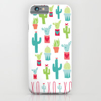 XOXO Cactus Valentine Love Pattern iPhone & iPod Case by Two If By Sea Studios