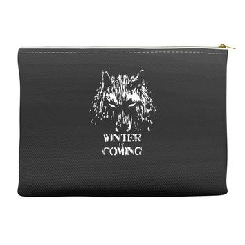game of thrones direwolf winter is coming Accessory Pouches