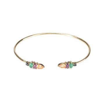 Ashley Schenkein Jewelry - Jaipur Multi Shape Gemstone Cuff Bracelet