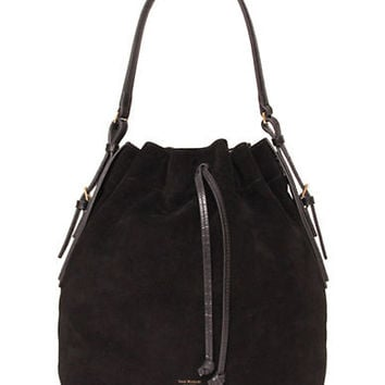 Isaac Mizrahi New York Maggie Leather Drawstring Hobo Bag