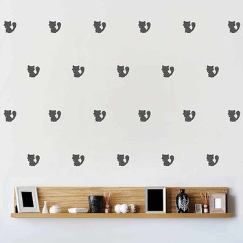 kik3016 raccoon Decals raccoon Wall Decal Set raccoon Wall Decal Nursery Decals Nursery Decor Mural home decor animals Kids Bedroom Decal