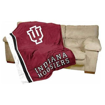 Indiana Hoosiers NCAA UltraSoft Fleece Throw Blanket (84in x 54in)