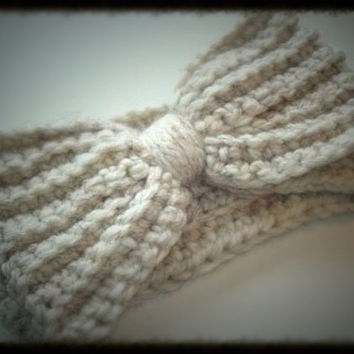 Children's Crochet Rag Bow Earwarmer