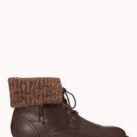 Cozy Faux Leather Booties