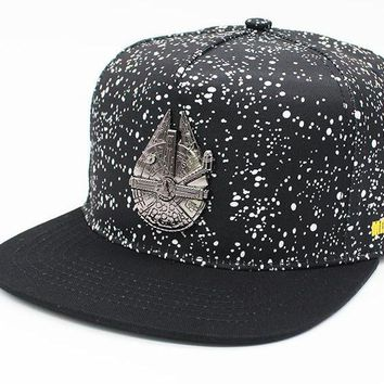 Adjustable Casual Men&Women Baseball Cap Star Wars Millennium Falcon Adult Fashion Snapback Hats Cap Hip-Hop Hats