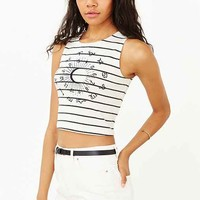 Truly Madly Deeply Striped Astrology Chart Cropped Tank Top