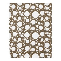 Brown Abstract Polka Dot Geometric Modern Art Duvet Cover