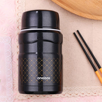 500ml Lunch Pail Thermos Food Container Stainless Steel Jar Lunch Box With Bag Dinnerware Vacuum Insulated Thermo Soup Bentoo
