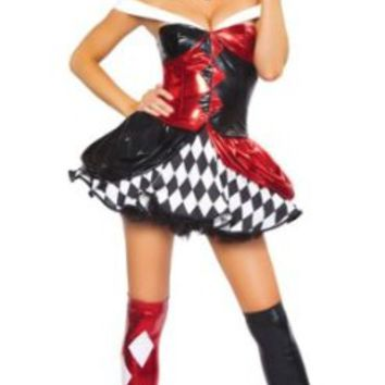 Sexy Clown Costume - Medium/Large - Dress Size 6-10