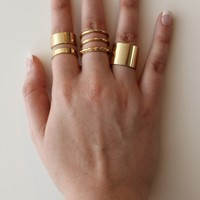 Mixed Gold Rings Set