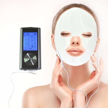 Electrical Muscle Stimulator 8 Modes With Conductive Facial Mask For Beauty