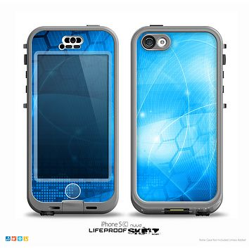 The Vivid Blue Fantasy Surface Skin for the iPhone 5c nüüd LifeProof Case