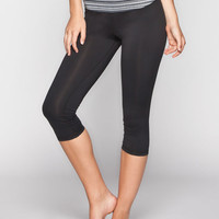 Full Tilt Sport Printed Womens Capri Leggings Black/White  In Sizes